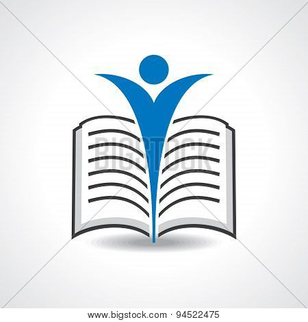 Reading book icon stock vector