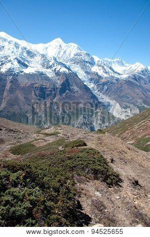 The Himalaya mountain peaks