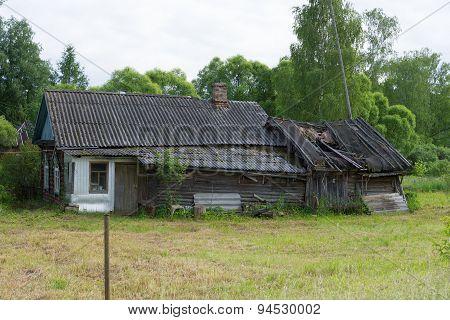 Ramshackle old farmhouse