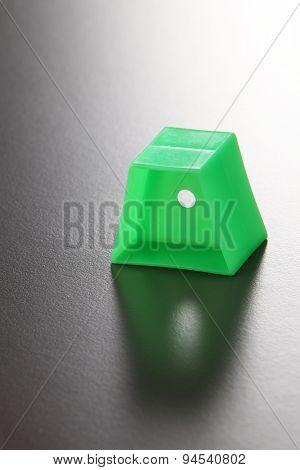 trapezium shape of the plastic block