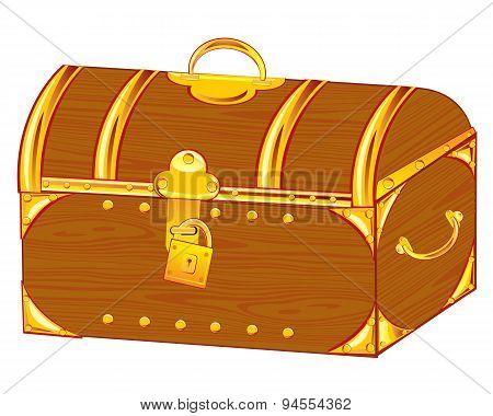 Coffer on lock