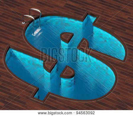 Shaped Pool Dollar
