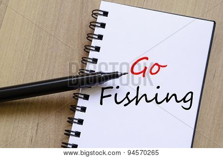 Go Fishing Text Concept