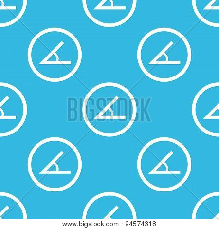 Angle sign blue pattern