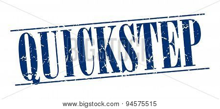 Quickstep Blue Grunge Vintage Stamp Isolated On White Background