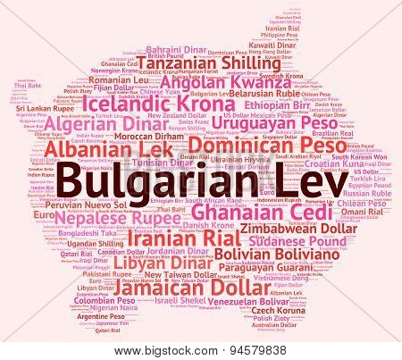 Bulgarian Lev Indicates Worldwide Trading And Bgn