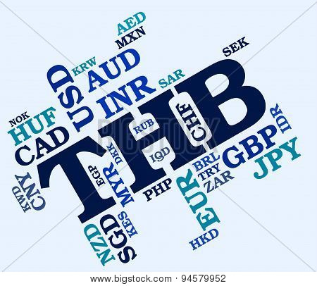 Thb Currency Indicates Worldwide Trading And Coin