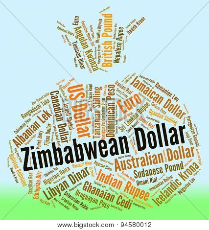 Zimbabwean Dollar Indicates Foreign Currency And Coin