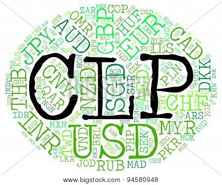 Clp Currency Shows Chilean Pesos And Broker