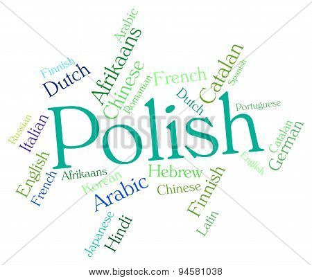 Polish Language Represents Lingo Word And Translate
