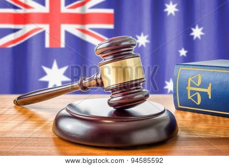 A Gavel And A Law Book - Australia