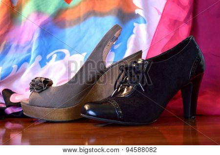 Two Contrasting Fashion Shoes