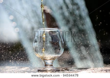 Liquor Poured In Bocal