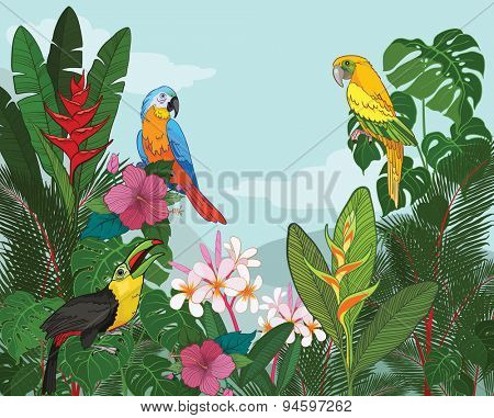 Tropical Paradise vector illustration