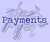 Payments Word Representing Amount Instalment And Settlement poster