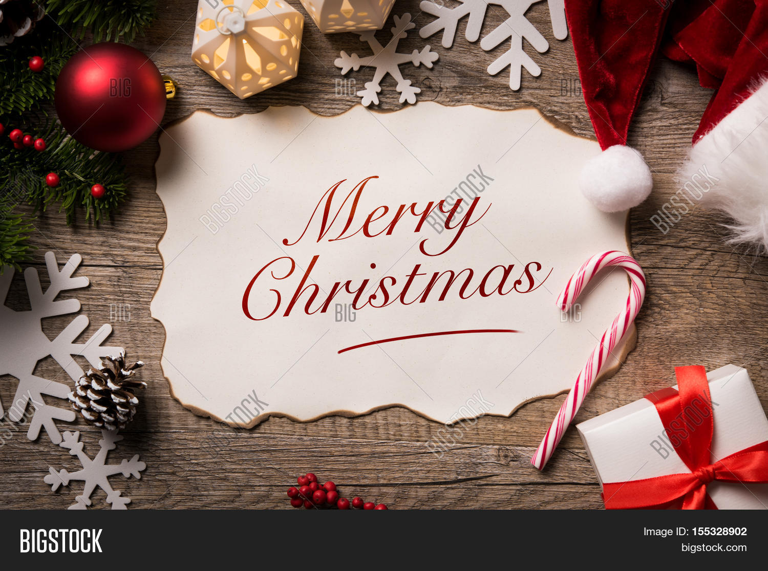 High Angle View Santa Image  Photo Free Trial  Bigstock