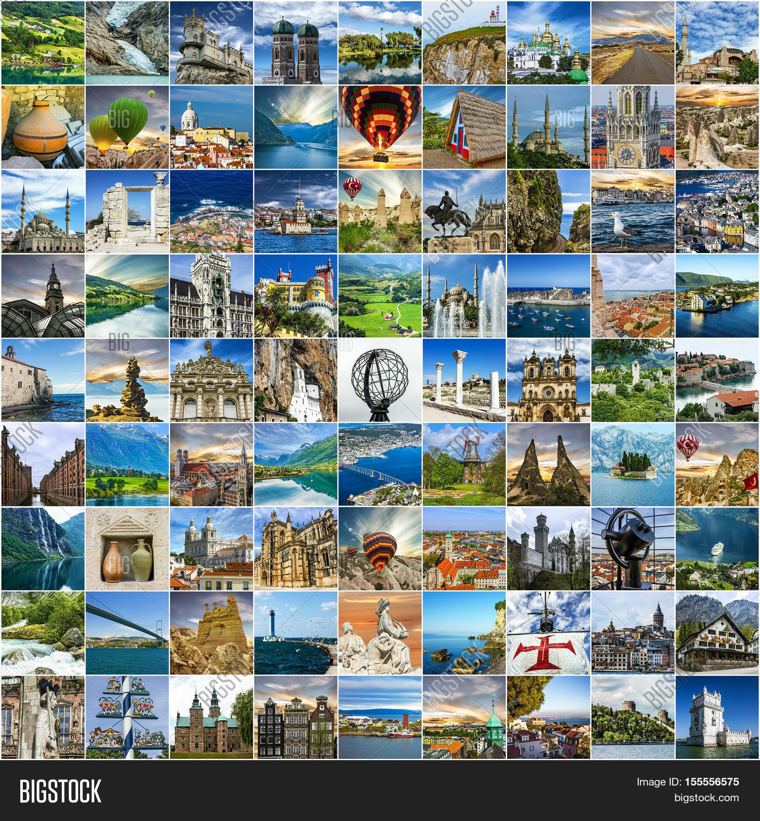 Travel Collage Many Image Photo Free Trial Bigstock