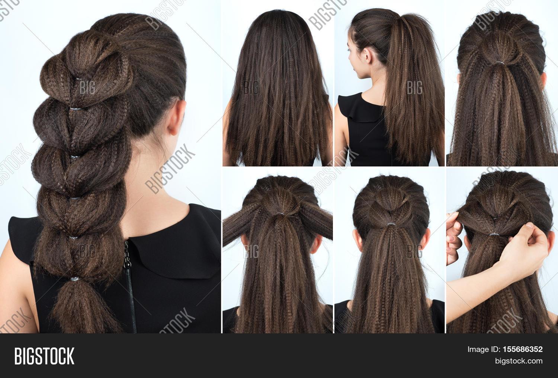 Hair Tutorial. Festive Image & Photo (Free Trial) | Bigstock