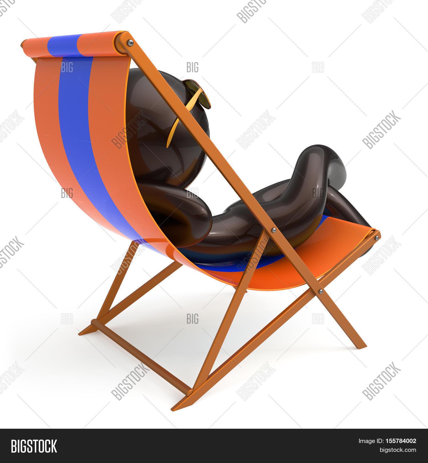 Man Sitting Beach Deck Image Photo Free Trial Bigstock