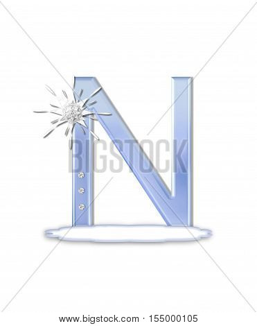 Alphabet Snow Flake N