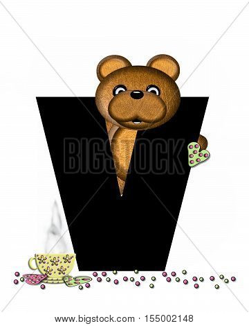 Alphabet Teddy Tea Time V