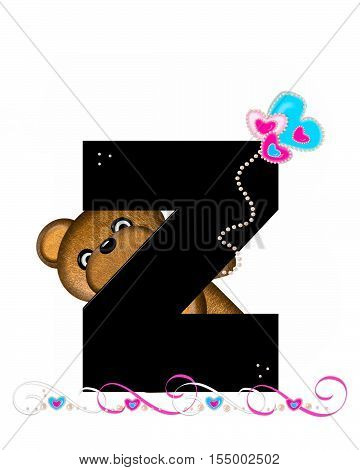 Alphabet Teddy Valentines Cutie Z