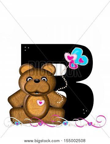 Alphabet Teddy Valentines Cutie B