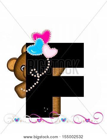 Alphabet Teddy Valentines Cutie F