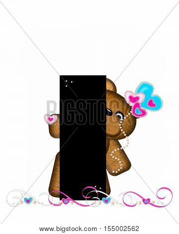 Alphabet Teddy Valentines Cutie I