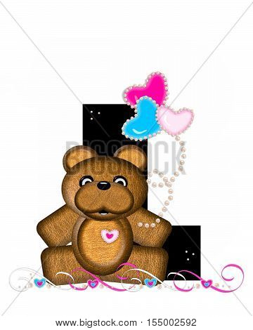 Alphabet Teddy Valentines Cutie L