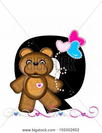 Alphabet Teddy Valentines Cutie Q