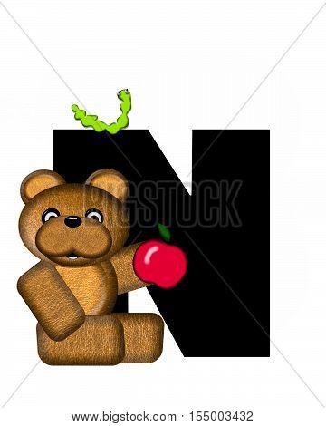 Alphabet Teddy N