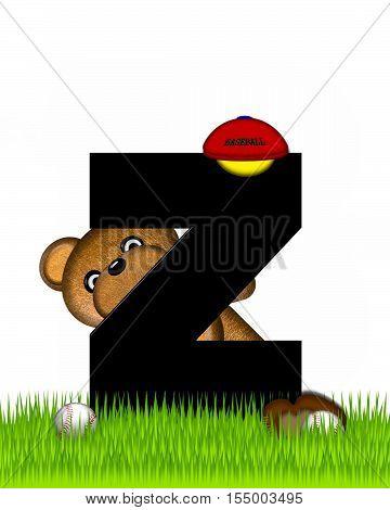 Alphabet Teddy Baseball Z