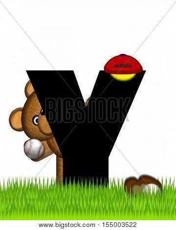 Alphabet Teddy Baseball Y
