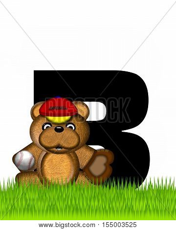 Alphabet Teddy Baseball B