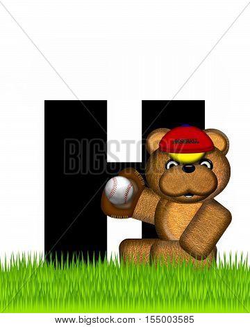 Alphabet Teddy Baseball H