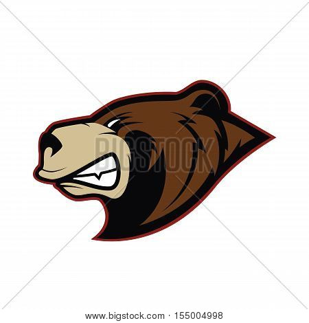 Clipart picture of a bear head cartoon mascot logo character poster
