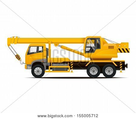 Mobile Crane. High Detailed Vector illustration of Mobile Crane