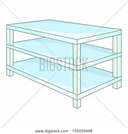 Industrial shelving icon. Cartoon illustration of shelving vector icon for web design