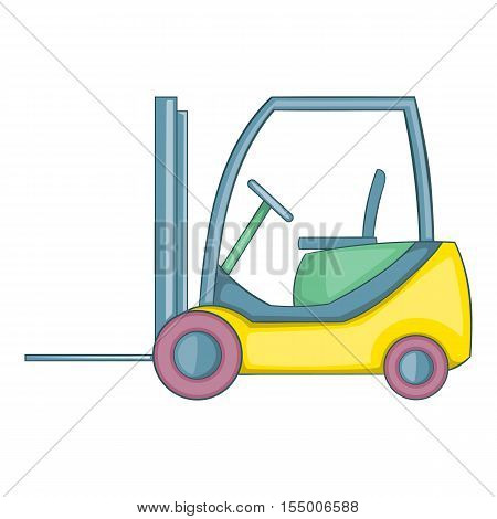 Forklift loader icon. Cartoon illustration of forklift loader vector icon for web design