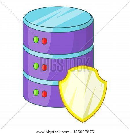 Data server protection icon. Cartoon illustration of data server protection vector icon for web design
