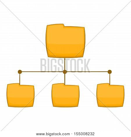 Folders structure icon. Cartoon illustration of folders structure vector icon for web design
