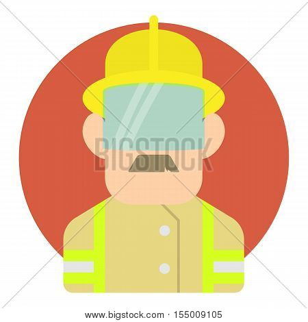 Builder icon. Flat illustration of builder vector icon for web