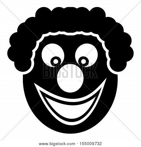 Clown icon. Simple illustration of clown vector icon for web