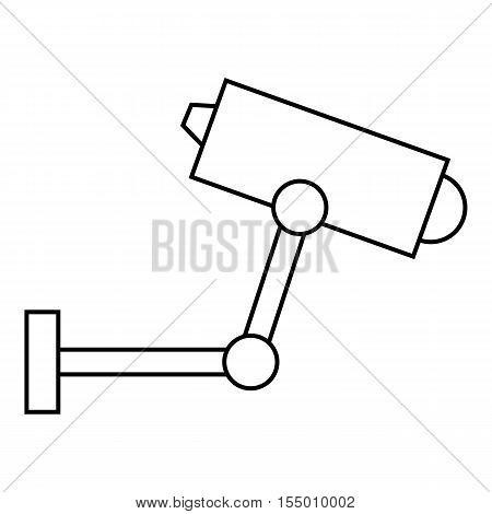 CCTV camera icon. Outline illustration of CCTV camera vector icon for web