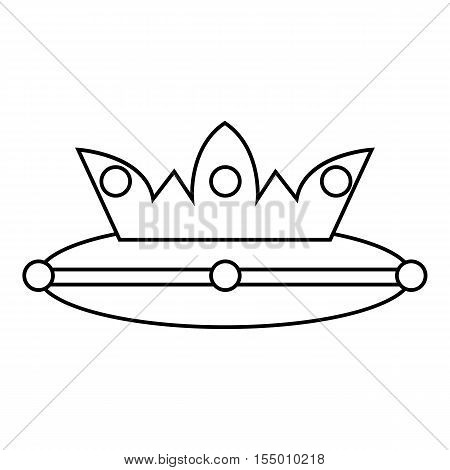 Crown icon. Outline illustration of crown vector icon for web