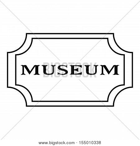 Sign museum icon. Outline illustration of sign museum vector icon for web