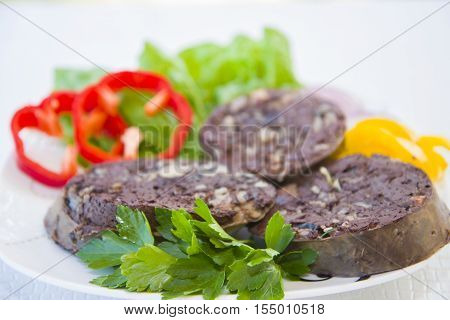 Blood Sausage Is A Dish Of Buryat Cuisine.