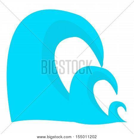 Three waves icon. Cartoon illustration of three waves vector icon for web
