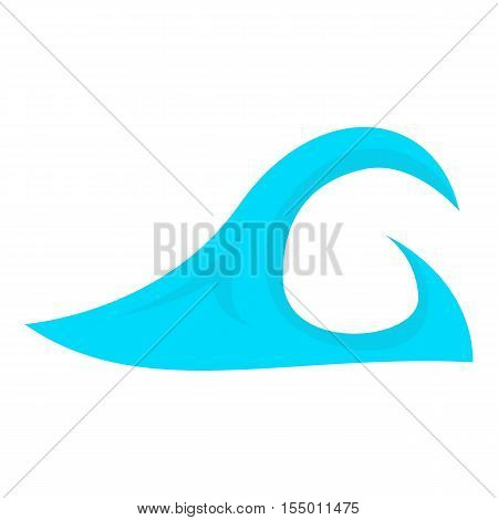Big ocean wave icon. Cartoon illustration of big ocean wave vector icon for web